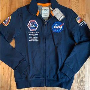 Men's Fred Mello Full Zip NASA Sweatshirt NWT